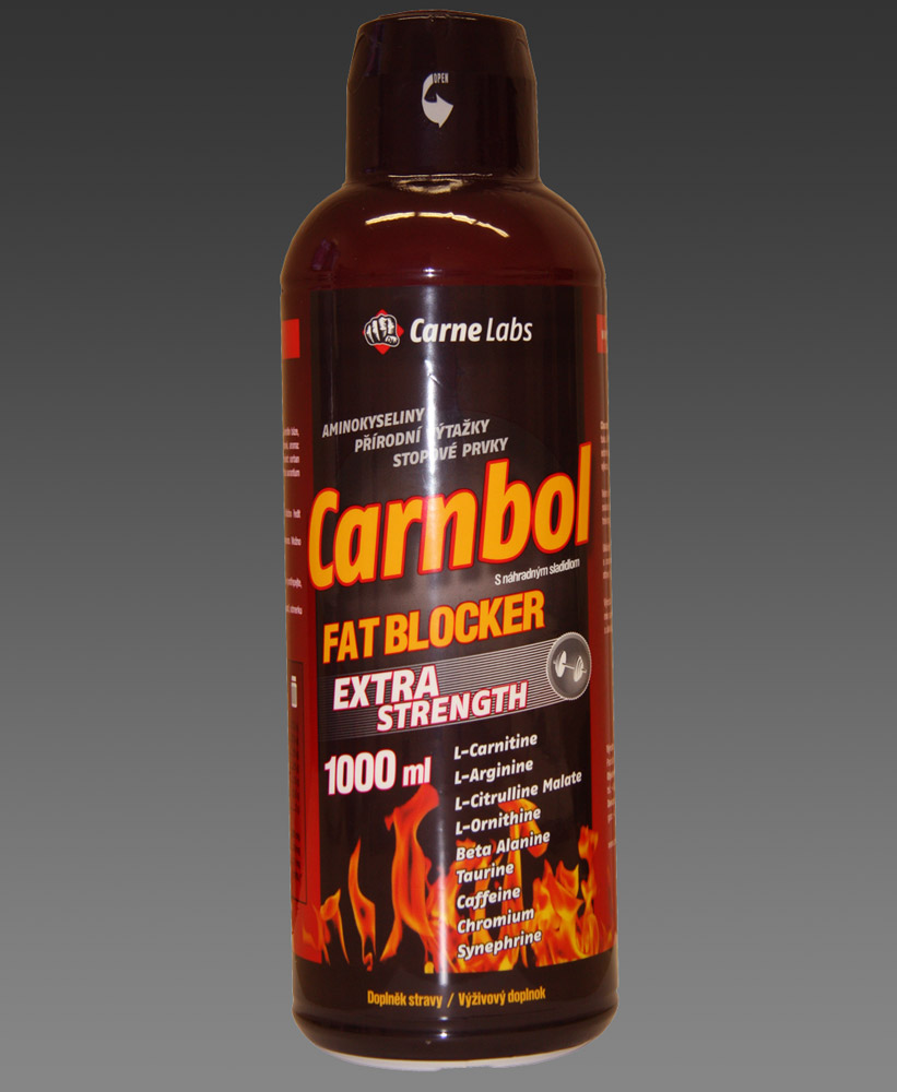 Carnbol  Extra Strength 1000 ml - malina + zdarma Carnbol Extra Strength 120 tablet